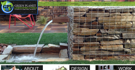 green planet landscaping website design customer